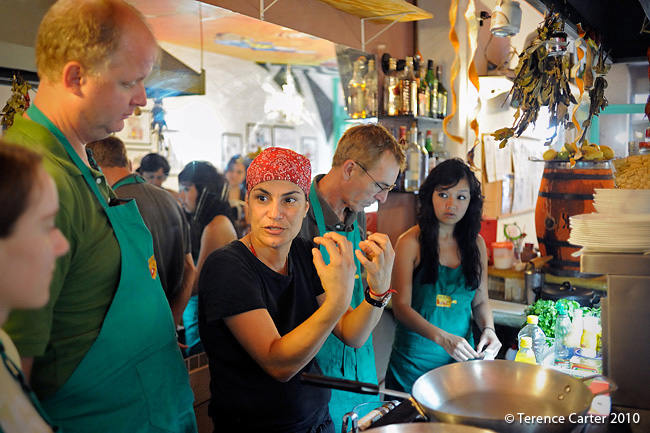 Cooking class in Rio.